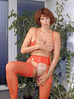 mature redhead mama spreading her legs for you