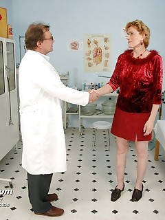 Mila  milf muff vagina spreader gyno exam at clinic