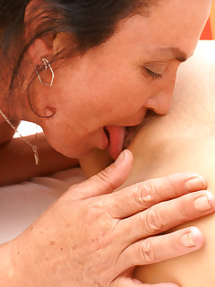Old and young lesbians getting really kinky