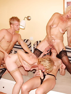 This lucky guy gets to fuck three mature sluts