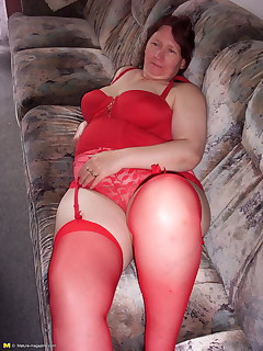 Chubby amateur bondage lover at play