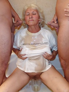 See granny get pissed under