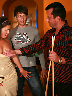 Tight young wife cuckolds her older watching husband with a random stud from the street