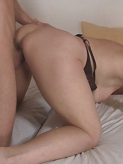 This young stallion really appreciates this older broad's tight pussy hole.