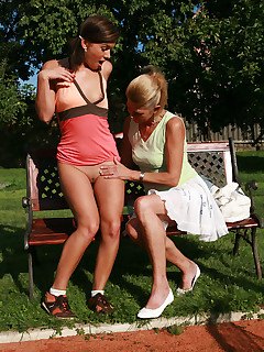 Tight cutie fucked by guys mother while he was away during outdoor sports