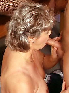 A host of hot guys pound away at the open holes of these three hot mature babes
