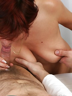 This mature slut loves two hard cocks
