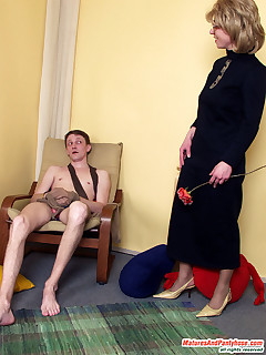 Naughty mom and her lover savoring luxury hosiery before pantyhose fucking