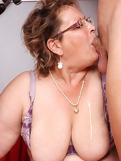 Sexy granny with big tits loves to be on top and have multiple orgasms