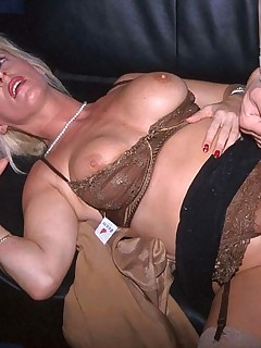 Blonde housewife is poked deeply in the cunt