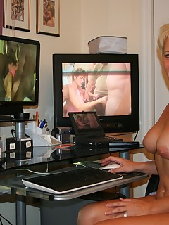 Tracy invites you into her home to watch her working