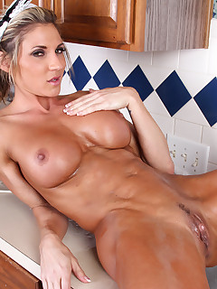 Naughty and wild Lexus Smith gets wet at the sink