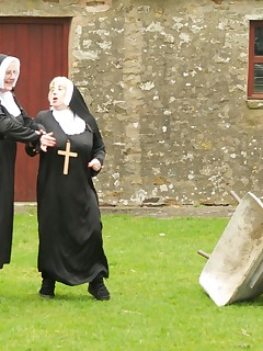 Hi Guys heres some Fun Pics shot last year on location in Cumbria while we were filming a movie Nuns On The Run and believe me guys we had a lot of fun both..