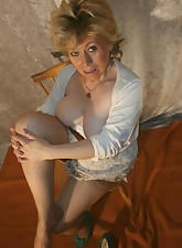 Armpits legs and pussy all very naturally hairyPackaged in stockings and garter belt