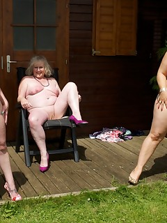 Another beautiful Day at my Summer Retreat so I had invited My Friends Speedybee and Gina George to join me in The Garden we soon stripped off and I was..