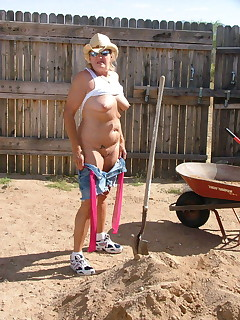 Working in the yard can be hot work  cooling my tits felt soooo good  My Daisy Duke shorts were so tight against my crotch  and rubbed just the right way  I..