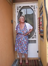 Girdlegoddess Looking like the MILF next door wearing a nice summer dress and a sexy full slip Open the door and let me in