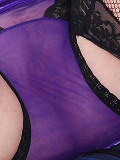 I love this little purple velvet dressthe feathery neckline is glamorous and it is easy to pull down wink A perfect opportunity to wear this sheer black and..